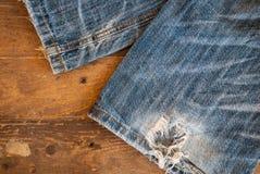 Textura de calças de ganga Fotos de Stock