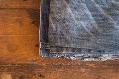 Textura de calças de ganga Fotografia de Stock Royalty Free