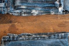 Textura de calças de ganga Foto de Stock Royalty Free