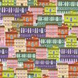 Textura de casas de la ciudad foto de archivo libre de regalías