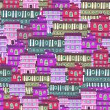 Textura de casas de la ciudad Foto de archivo