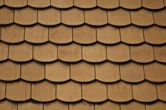 Textura de cerámica de la teja de tejado Imagen de archivo libre de regalías