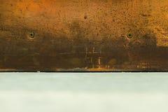 Textura de cobre de la superficie de metal Fotografía de archivo