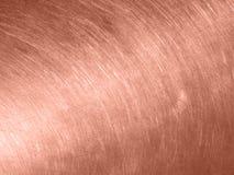 Textura de cobre del metal con los rasguños circulares fotos de archivo