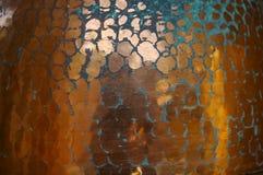 Textura de cobre envelhecida Foto de Stock Royalty Free