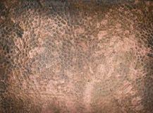 Textura de cobre martillada Imagenes de archivo