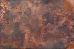 Textura de cobre velha fotografia de stock royalty free
