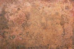 Textura de cobre velha fotos de stock