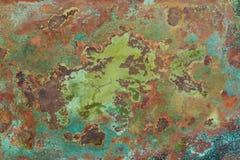 Textura de cobre velha foto de stock