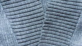 Textura de confecção de malhas cinzenta de lãs Imagens de Stock