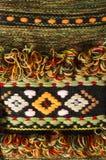 Textura de confecção de malhas colorida feito a mão de lãs Imagens de Stock