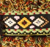 Textura de confecção de malhas verde feito a mão de lãs Imagem de Stock