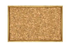 Corkboard con el marco de madera Foto de archivo