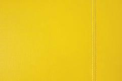 Textura de couro amarela Fotos de Stock