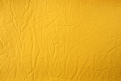 Textura de couro amarela sintética Imagens de Stock Royalty Free