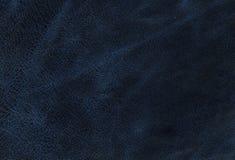 Textura de couro azul fotografia de stock