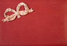 Textura de couro com curva cor-de-rosa Imagem de Stock