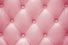 Textura de couro cor-de-rosa do sofá Fotografia de Stock