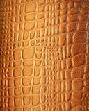 Textura de couro de Brown com testes padrões na luz solar Imagens de Stock