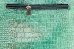 Textura de couro do crocodilo com zíper foto de stock