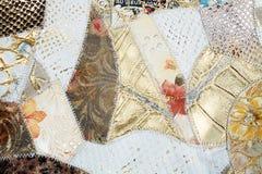 Textura de couro dos retalhos imagem de stock
