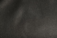 Textura de couro falsificada preta Imagem de Stock