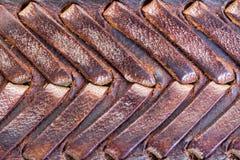 Textura de couro manufaturada Imagem de Stock