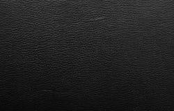 Textura de couro preta Imagens de Stock