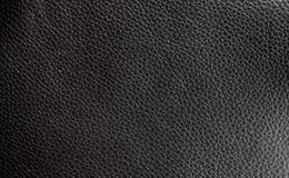 Textura de couro preta Foto de Stock Royalty Free