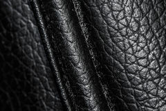 Textura de couro preta Foto de Stock