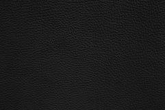 Textura de couro preta como o fundo Imagem de Stock Royalty Free