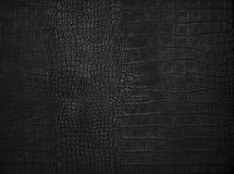 Textura de couro preta do fundo Imagens de Stock