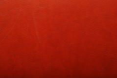 Textura de couro vermelha Imagem de Stock