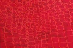 Textura de couro vermelha Imagens de Stock