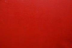 Textura de couro vermelha fotografia de stock royalty free