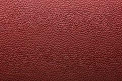 Textura de couro vermelha Imagens de Stock Royalty Free