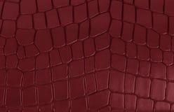Textura de couro vermelha Foto de Stock Royalty Free
