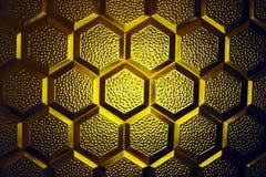 Textura de cristal amarilla abstracta Fotos de archivo libres de regalías