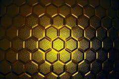 Textura de cristal amarilla abstracta Foto de archivo libre de regalías