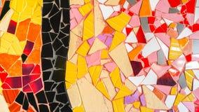 Textura de cristal del fondo de la teja colorida abstracta del triángulo Imagenes de archivo