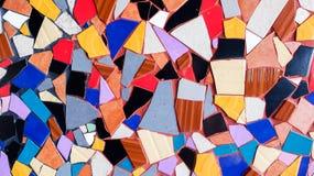Textura de cristal del fondo de la teja colorida abstracta del triángulo Imagen de archivo libre de regalías