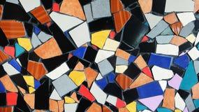 Textura de cristal del fondo de la teja colorida abstracta del triángulo Imágenes de archivo libres de regalías