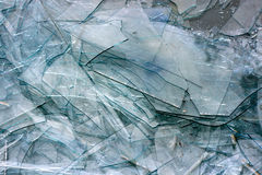 Textura de cristal quebrada Imagenes de archivo