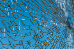 Textura de cristal quebrada Fotos de archivo