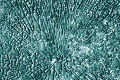 Textura de cristal quebrada en tono ciánico fotos de archivo