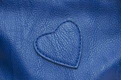 Textura de cuero azul cualitativa natural. Foto de archivo libre de regalías