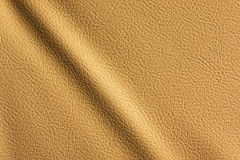 Textura de cuero con una arruga Fotos de archivo libres de regalías