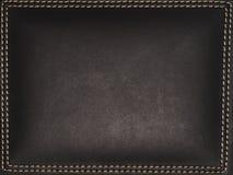 Textura de cuero cosida Fotos de archivo
