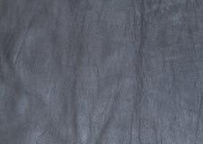 Textura de cuero gris oscuro natural, real Fotografía de archivo