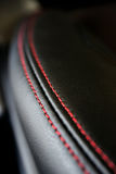 Textura de cuero negra Imagenes de archivo